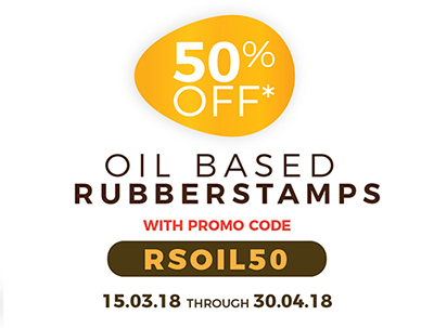 50% Off Oil Based Rubberstamps