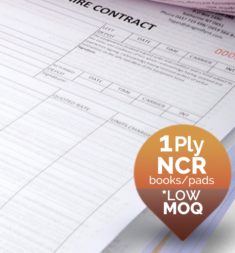 1 ply NCR Forms