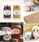 Oval labels for jams, wedding favours, cookies & more!