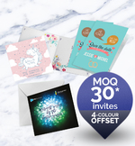 Full colour folded greeting cards