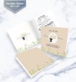 Double sided folded greeting cards
