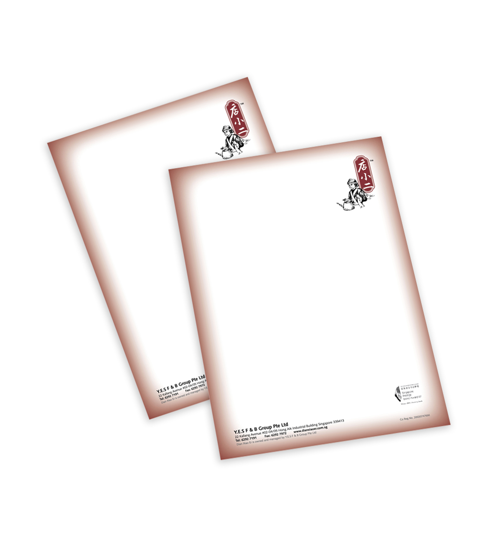offset full colour letterhead
